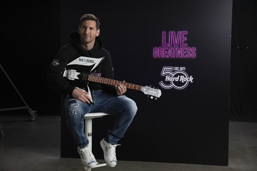 Hard Rock International inks five-year worldwide deal with Lionel Messi for its 50th anniversary
